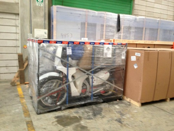 The bikes made it safe and sound.