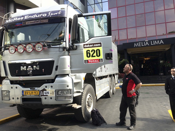 Lima: where to park the new GHR truck? Out the front of course.
