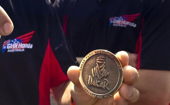 Dakar 2013 Finishers Medal.