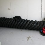 Just some of the stockpiled tyres