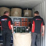 Loading the tyre bags
